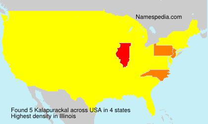 Familiennamen Kalapurackal - USA
