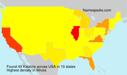 Surname Kalatzis in USA