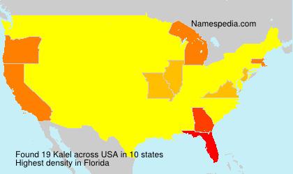 Surname Kalel in USA