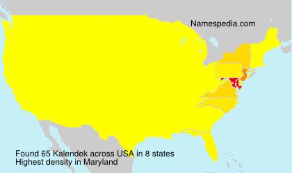 Surname Kalendek in USA