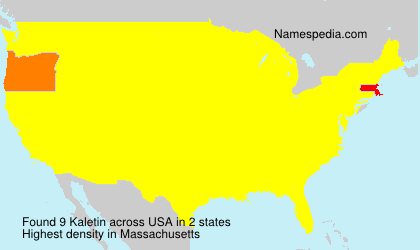 Familiennamen Kaletin - USA