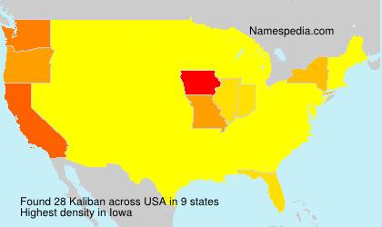 Surname Kaliban in USA