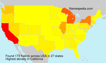 Surname Kalinin in USA