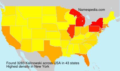 Surname Kalinowski in USA