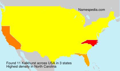 Familiennamen Kalkhurst - USA