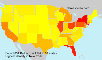 Surname Kall in USA