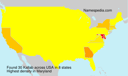 Surname Kallab in USA