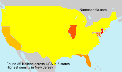 Familiennamen Kallens - USA