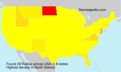 Surname Kallias in USA