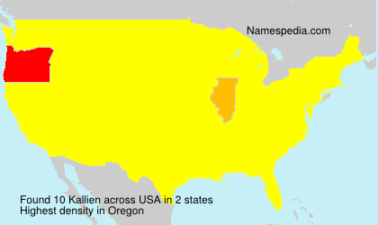 Surname Kallien in USA