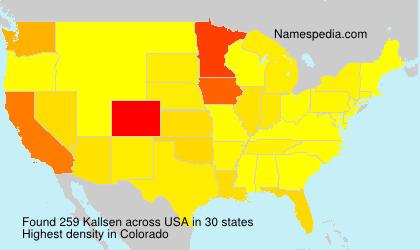 Surname Kallsen in USA