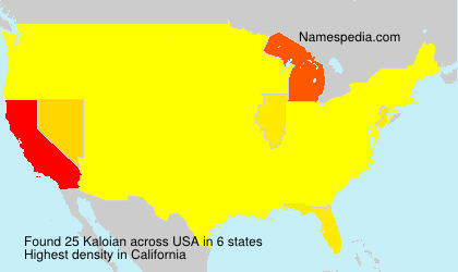 Surname Kaloian in USA