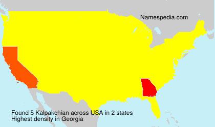 Surname Kalpakchian in USA
