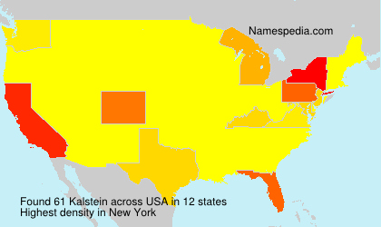 Surname Kalstein in USA