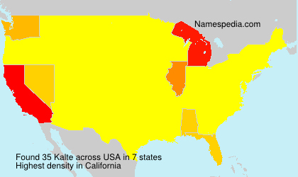 Surname Kalte in USA