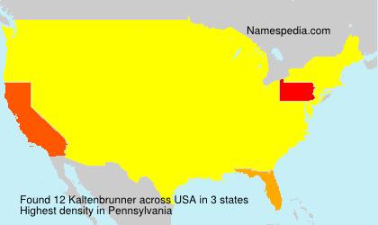 Familiennamen Kaltenbrunner - USA