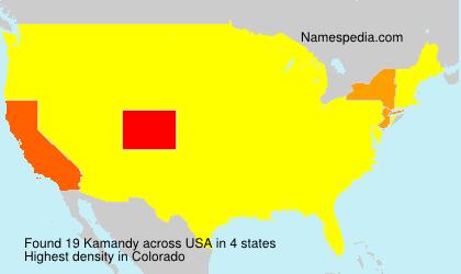 Surname Kamandy in USA