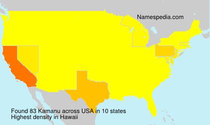 Surname Kamanu in USA