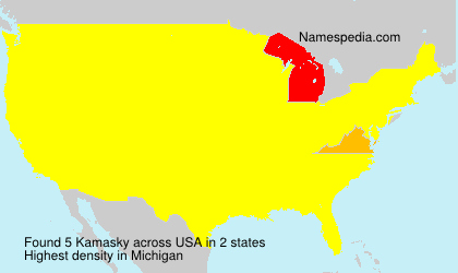 Surname Kamasky in USA
