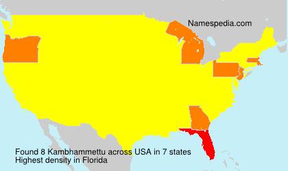 Familiennamen Kambhammettu - USA