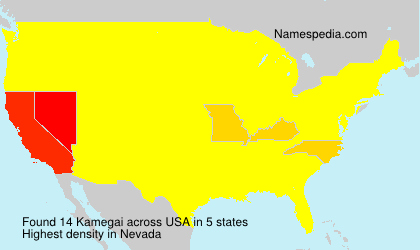 Surname Kamegai in USA
