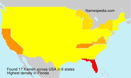 Surname Kameh in USA