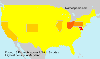 Surname Kamenik in USA