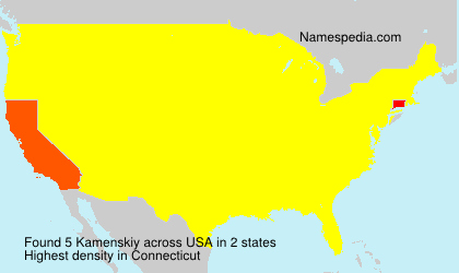 Surname Kamenskiy in USA