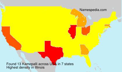 Surname Kamepalli in USA