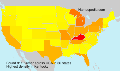 Surname Kamer in USA