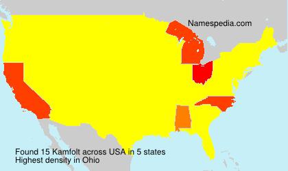Familiennamen Kamfolt - USA