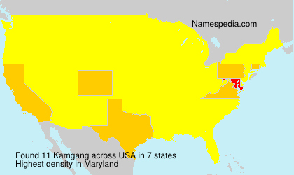 Surname Kamgang in USA