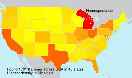Familiennamen Kammer - USA