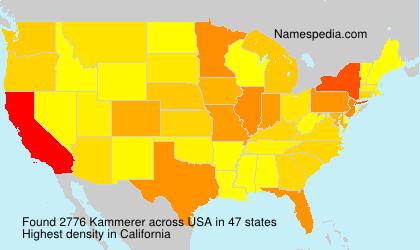 Surname Kammerer in USA