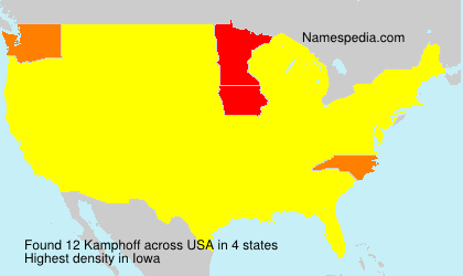 Surname Kamphoff in USA