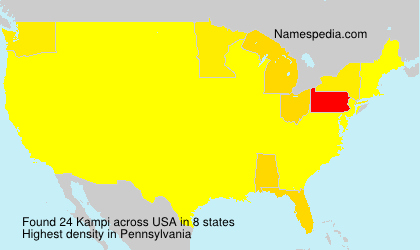 Surname Kampi in USA
