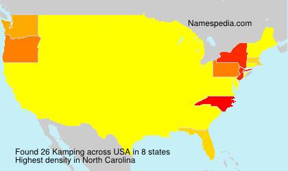 Familiennamen Kamping - USA