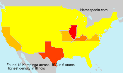 Surname Kampinga in USA