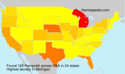 Familiennamen Kamprath - USA