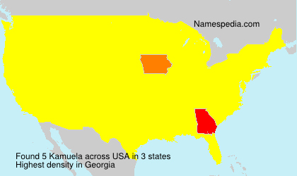 Surname Kamuela in USA