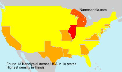 Surname Kanaiyalal in USA