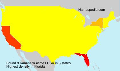 Familiennamen Kananack - USA