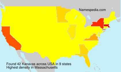 Surname Kanavas in USA