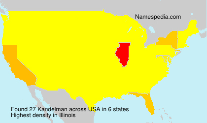 Surname Kandelman in USA