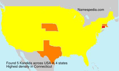 Familiennamen Kandida - USA
