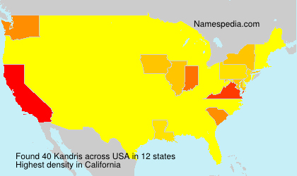 Surname Kandris in USA