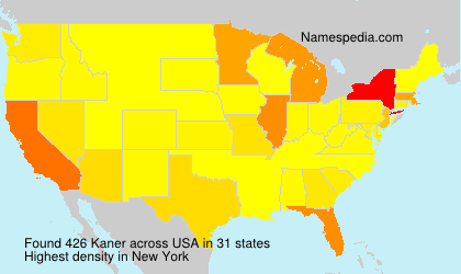 Surname Kaner in USA