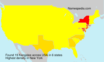 Surname Kangalee in USA