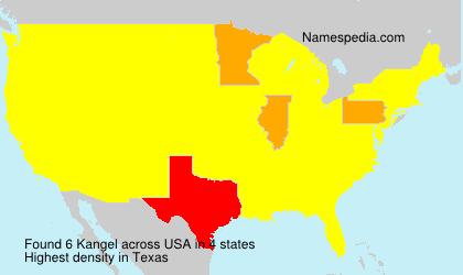 Surname Kangel in USA