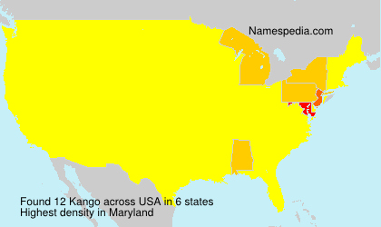 Surname Kango in USA